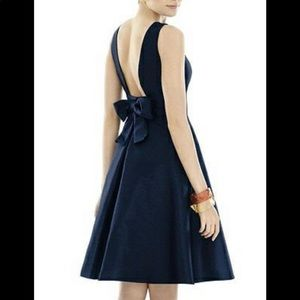Alfred Sung Bow Little Back Dress